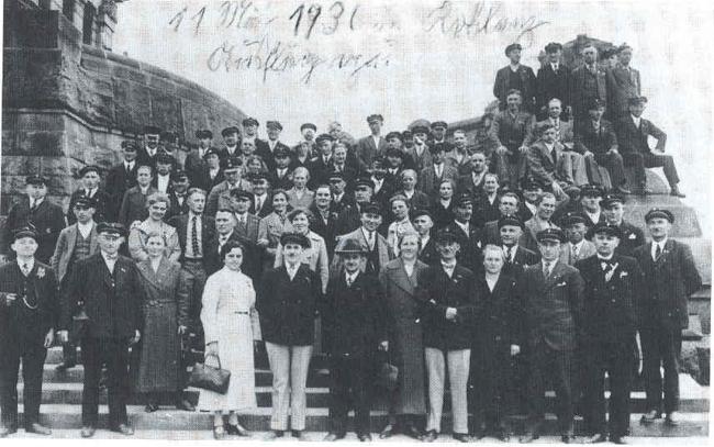 Fahrt nach Gundersheim vom 9.-11. Mai 1936