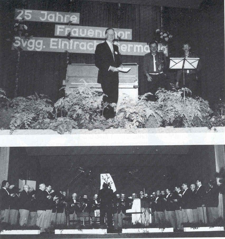 Jubiläumskonzert am 12. März 1988