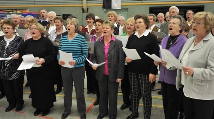 Gemischter Chor des Gesangverein Eintracht-Germania Großen-Buseck unter Renate Schygulla