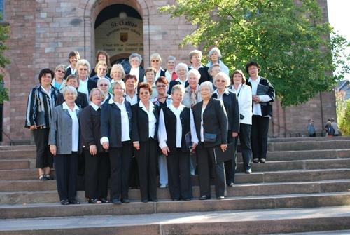 Der Frauenchor der Sängervereinigung »Eintracht-Germania« Großen-Buseck umrahmte den Gottesdienst in der katholischen Kirche von Oberharmersbach mit drei Liedern. (Foto: pm)