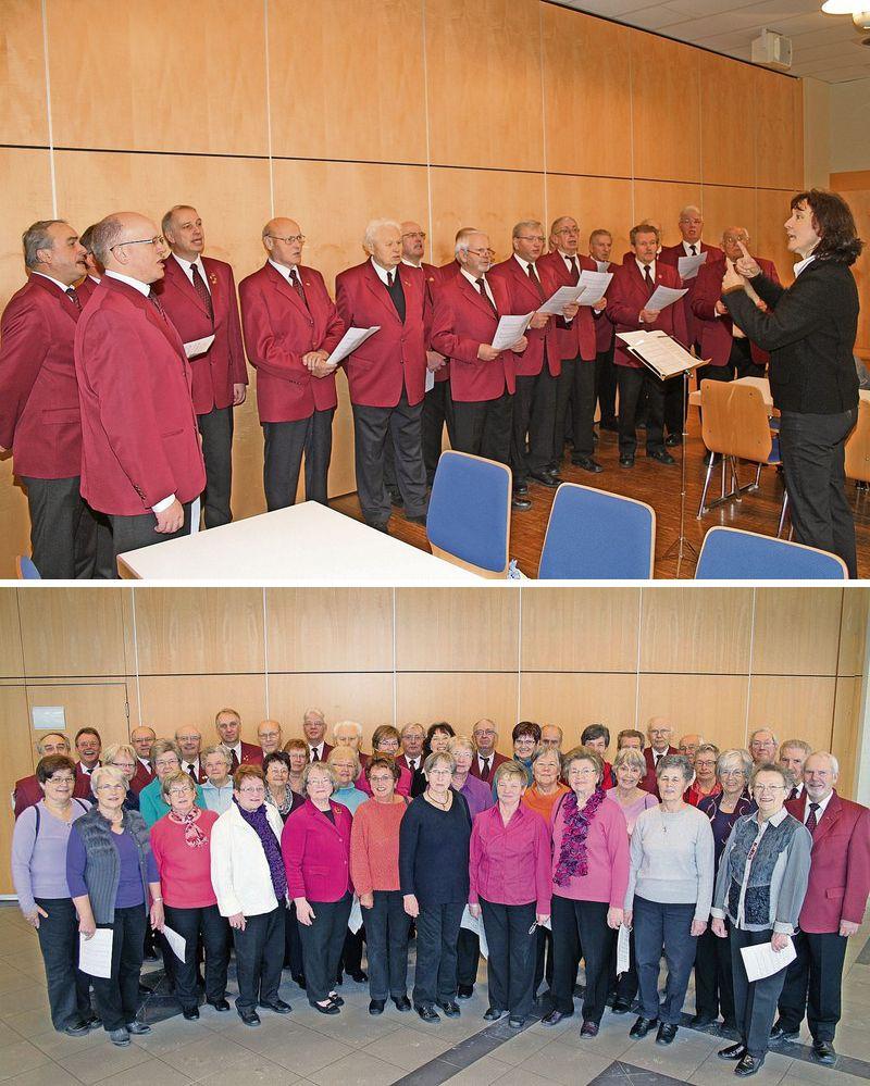 Männerchor 2013 (oben) und Gemischter Chor 2013 (unten)