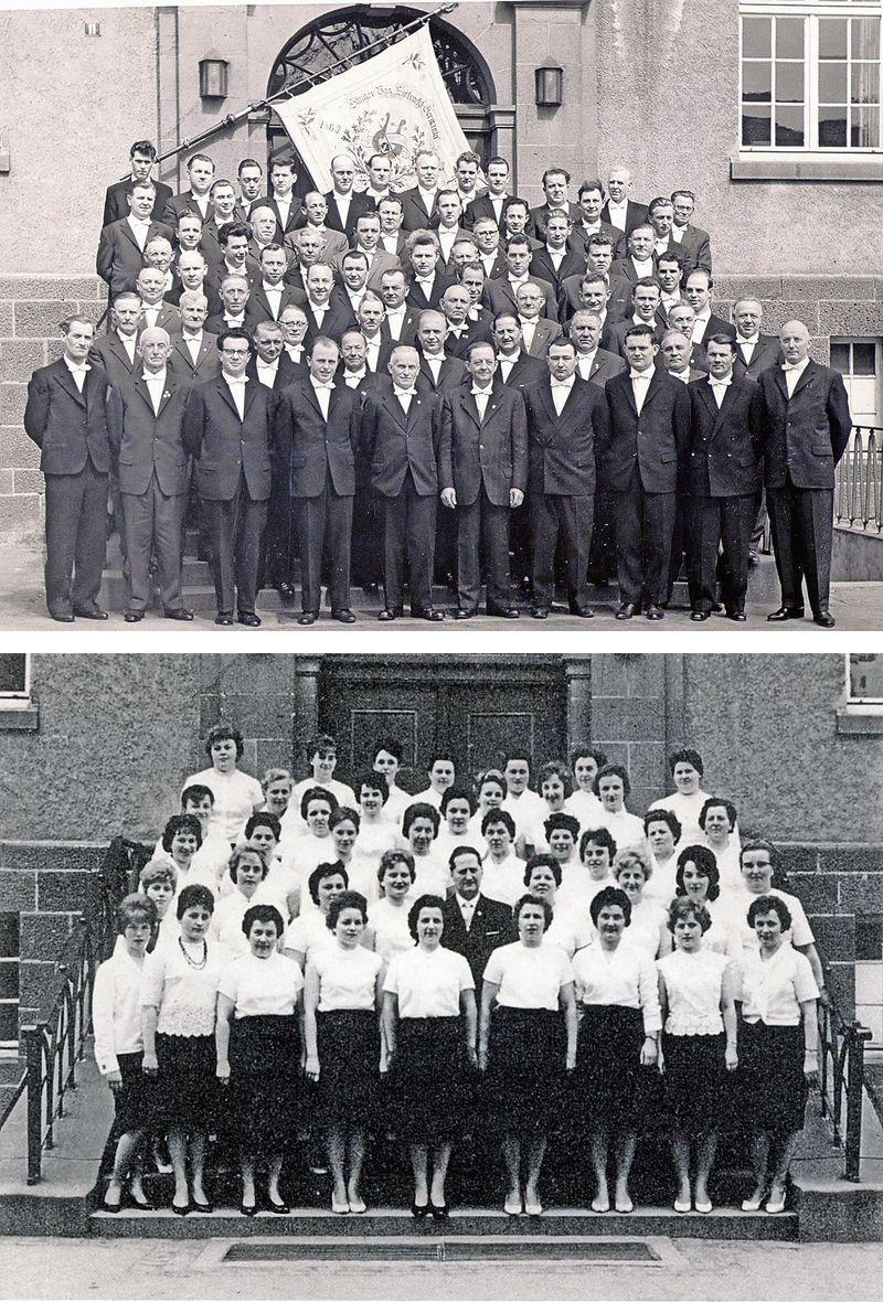 Männer 1963 (oben) und Frauen 1963 (unten)