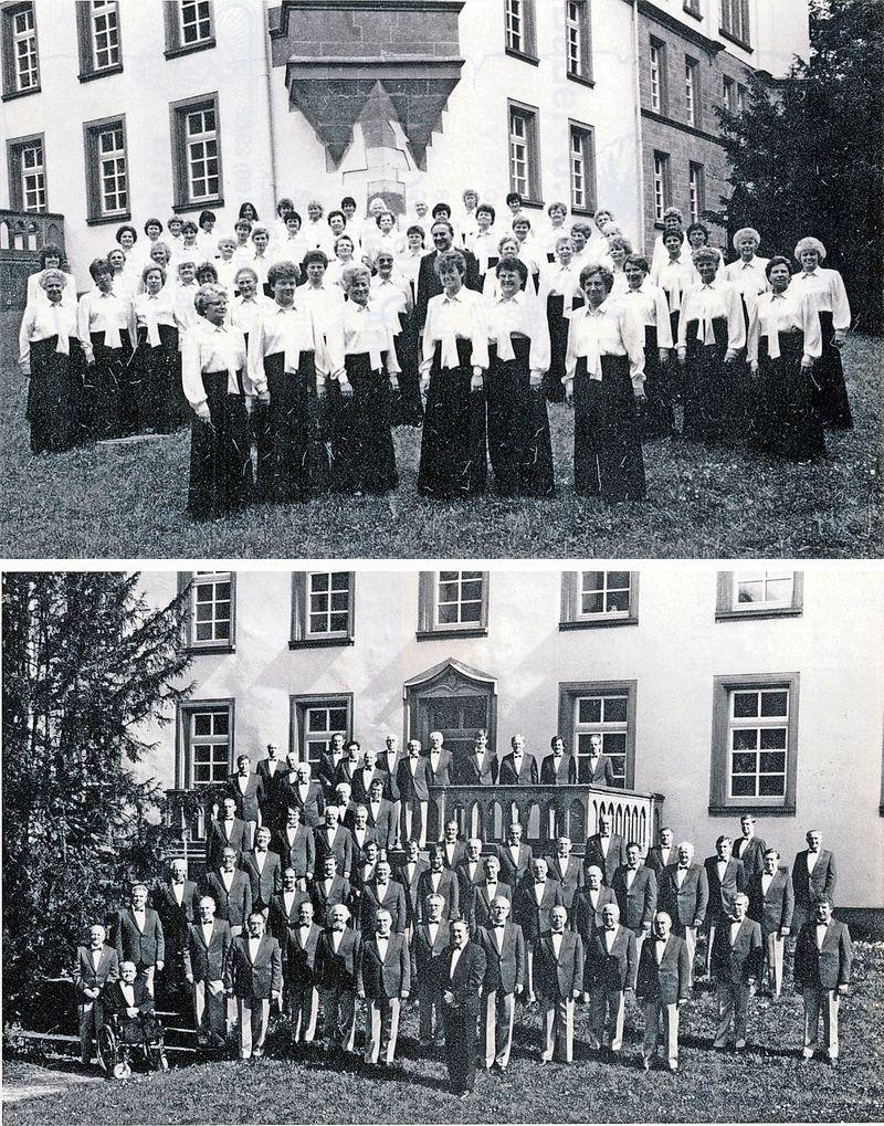 Frauen 1988 (oben) und Männer 1988 (unten)